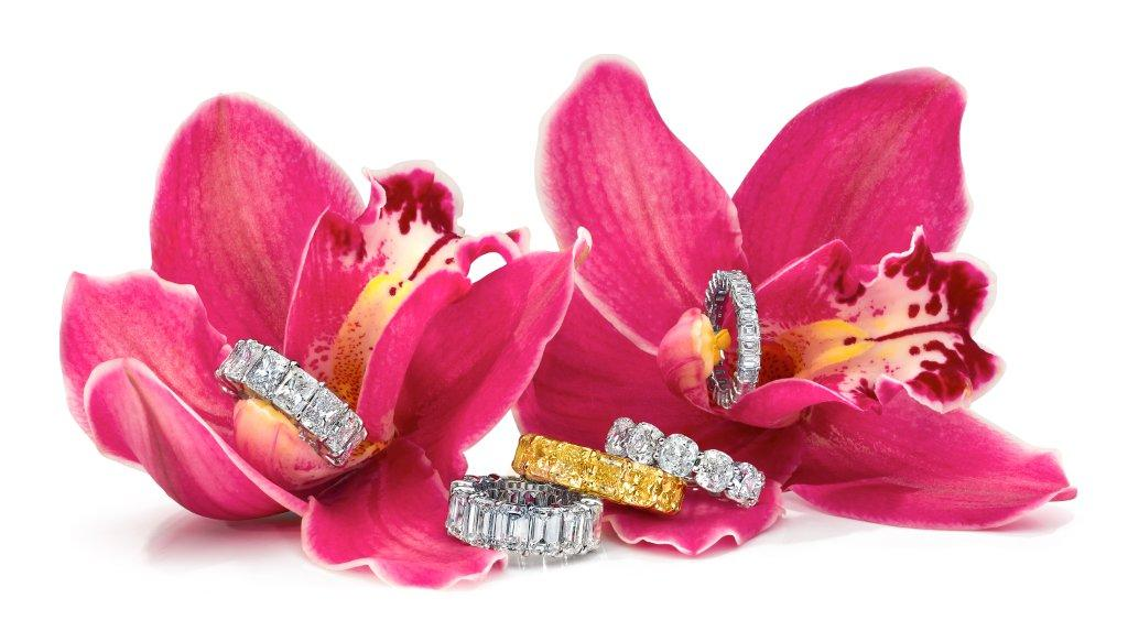 Eternity Diamond Ring in Orcid 2