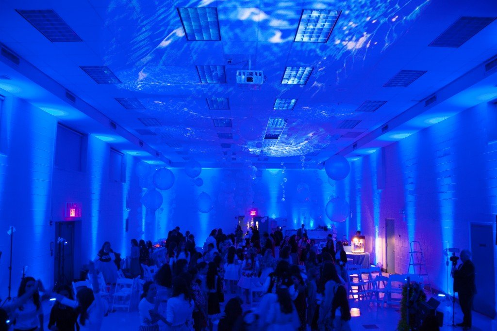 under water lighting with waves and fish Event Planner NY (800) 736-8888
