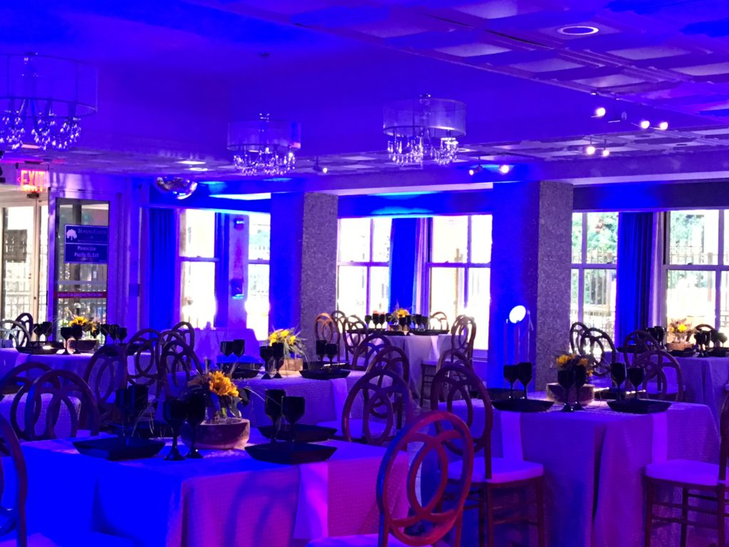 Blue Lighting and Spotlights EventPlannerNY.com  (800) 736-8888