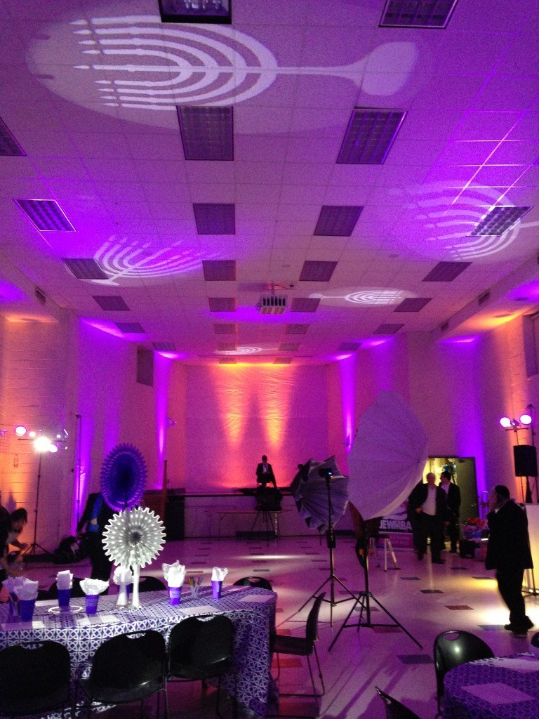 Chanukah party lights at Event Planner NY (800) 736-8888