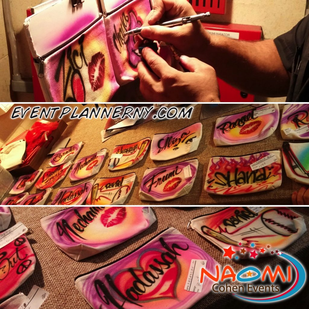 custom airbrushed items offered by event planner ny eventplannerny.com (800) 736-8888