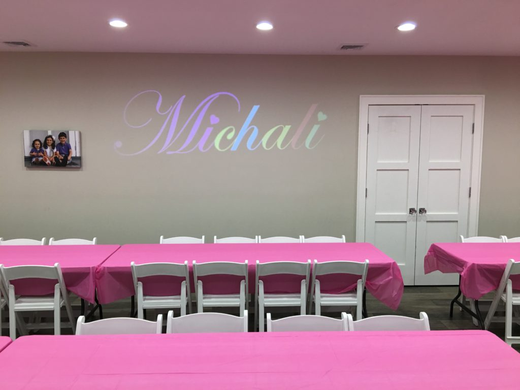 Custom Name Gobo, call now to reserve your date Event Planner NY EventPlannerNY.com (800) 736-8888