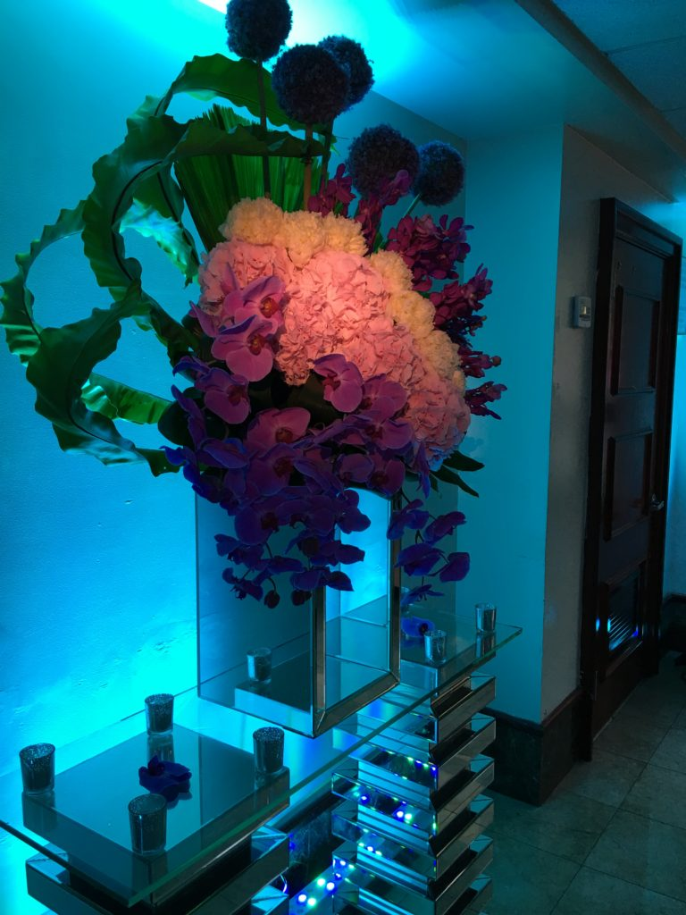 Enhancing the centerpieces with spotlights and lighting Event Planner NY - EventPlannerNY.com (800) 736-8888