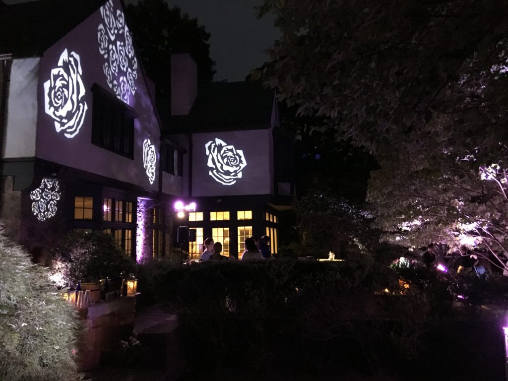 Exterior Rose GOBO Lighting EventPlannerNY.com (800) 736-8888