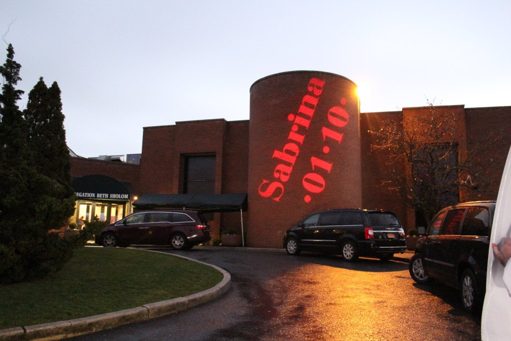 Exterior giant gobo daylight… by Event Planner NY (800) 736-8888