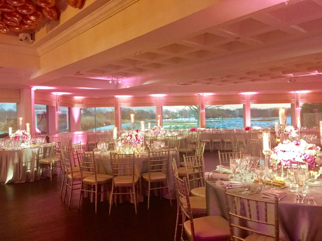 Lawrence Country Club - Soft Pink Lighting Daytime, call now to reserve your date Event Planner NY EventPlannerNY.com (800) 736-8888