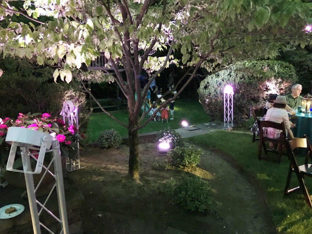 Lights enhancing the natural beauty of the trees EventPlannerNY.com (800) 736-8888