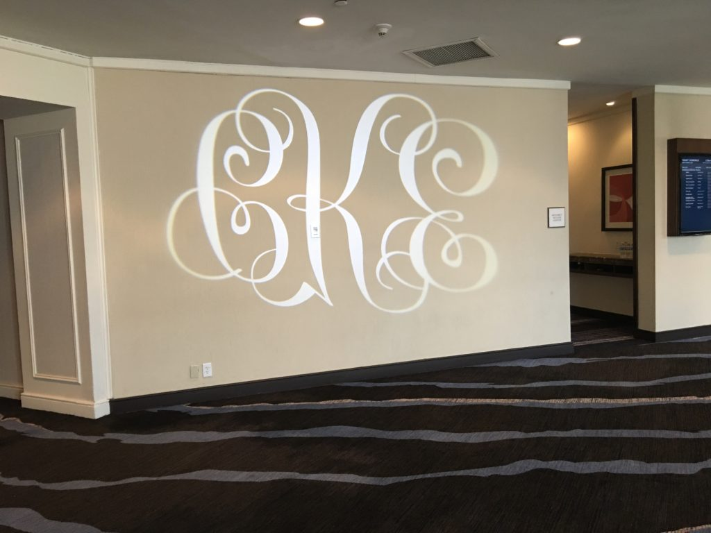 Monogram in Lights, call now to reserve your date Event Planner NY EventPlannerNY.com (800) 736-8888