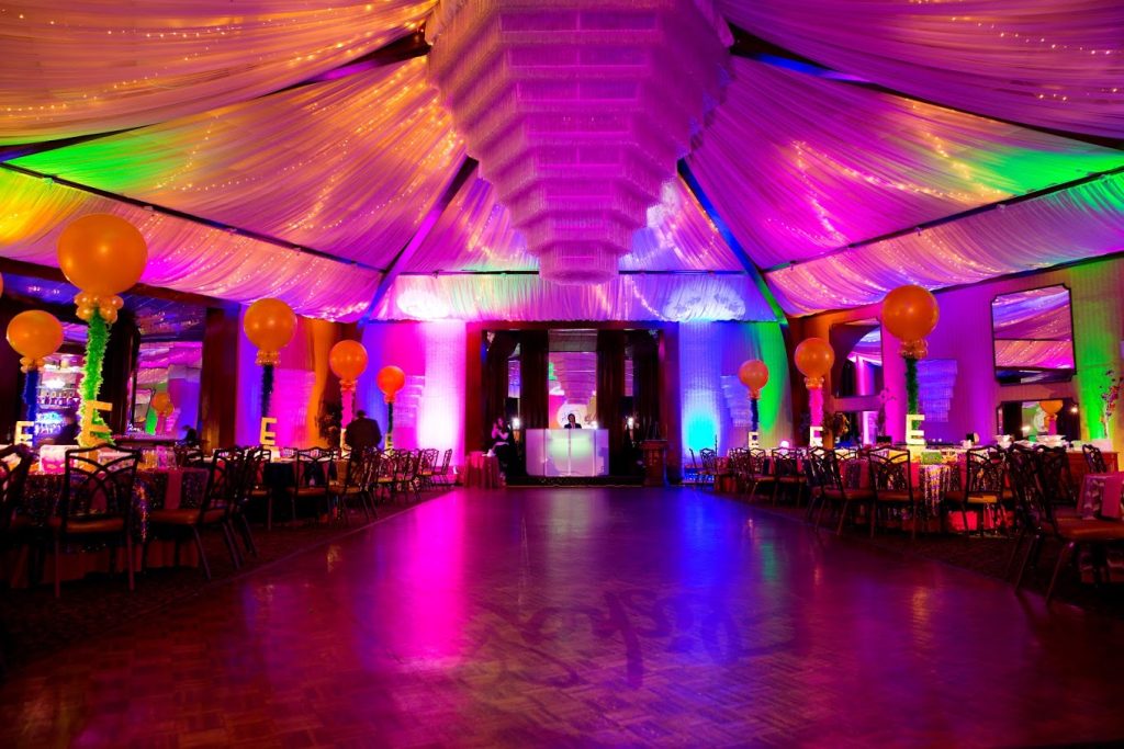 Our mixed light paints walls and ceiling - Event Planner NY (800) 736-8888