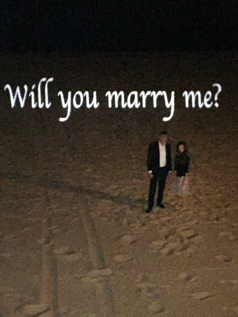Will you marry me - our Gobo on the send...yep
